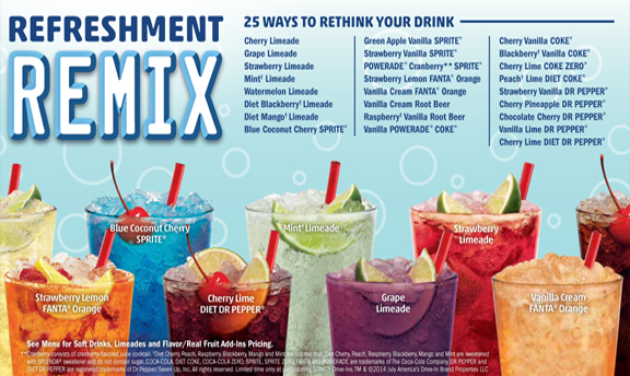 Refreshment Remix. 25 ways to rethink your drink.